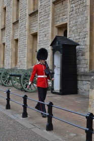 Guard outside the Crown Jewels